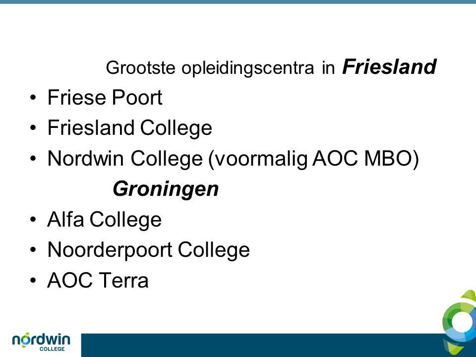 Grootste opleidingscentra in Friesland