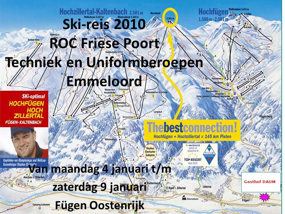 Ski-reis 2010 ROC Friese Poort Techniek en Uniformberoepen Emmeloord
