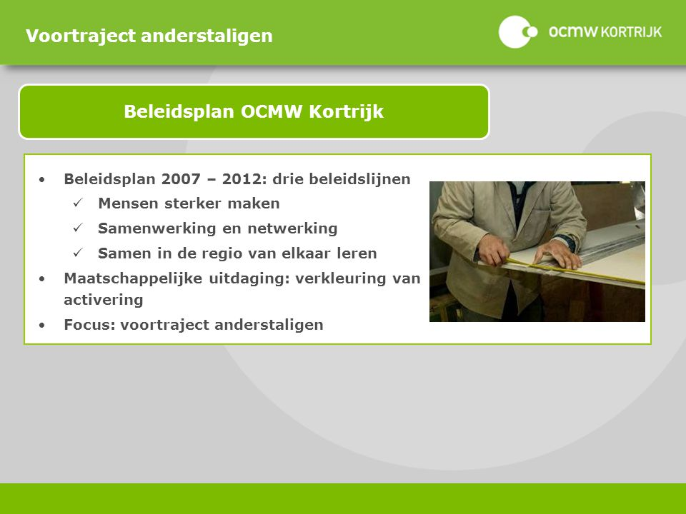 Beleidsplan OCMW Kortrijk