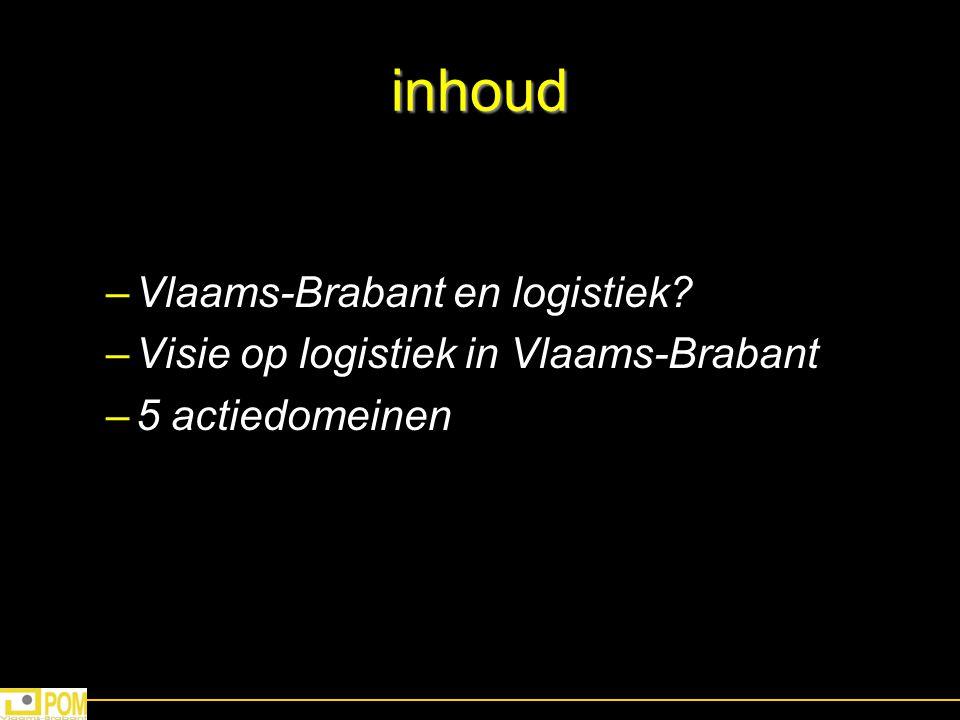inhoud Vlaams-Brabant en logistiek
