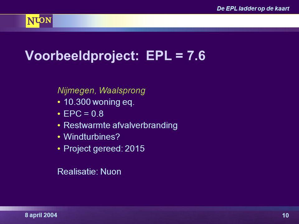 Voorbeeldproject: EPL = 7.6