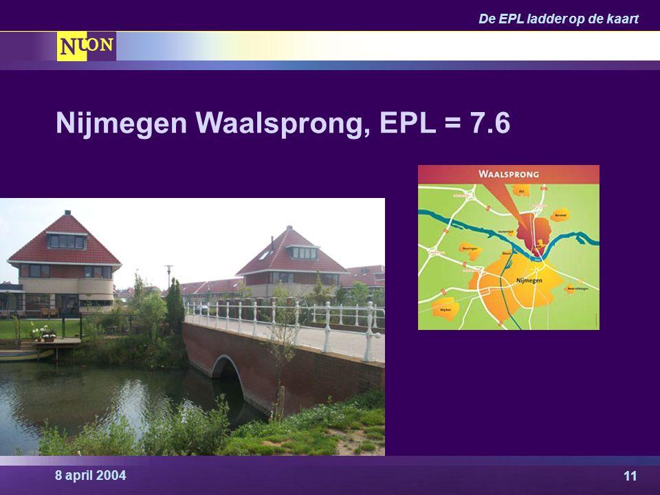 Nijmegen Waalsprong, EPL = 7.6