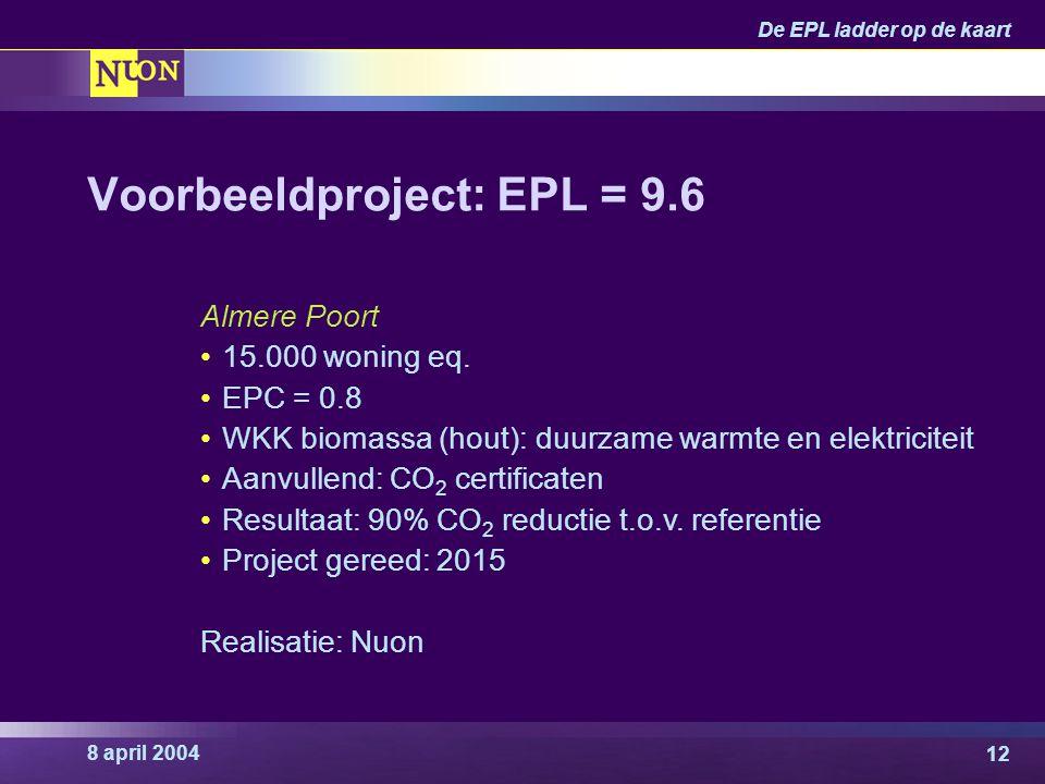 Voorbeeldproject: EPL = 9.6