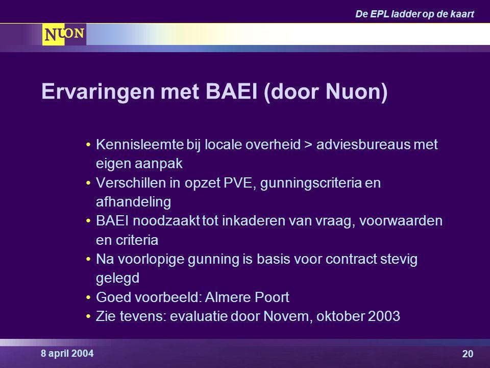 Ervaringen met BAEI (door Nuon)