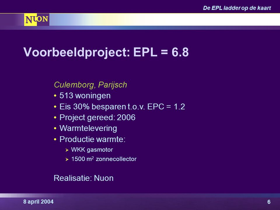 Voorbeeldproject: EPL = 6.8