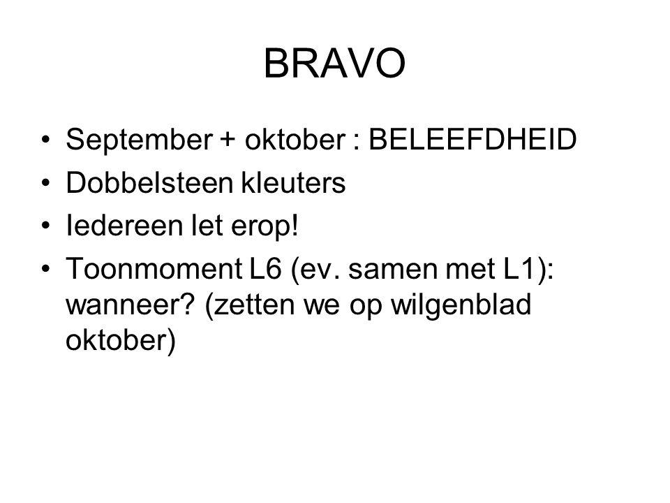 BRAVO September + oktober : BELEEFDHEID Dobbelsteen kleuters
