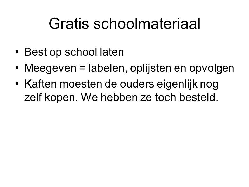 Gratis schoolmateriaal