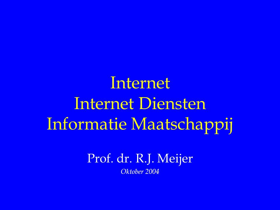 Internet Internet Diensten Informatie Maatschappij