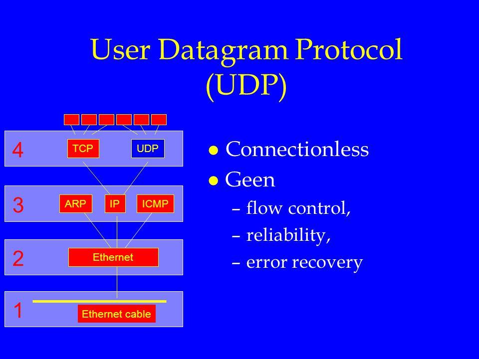 User Datagram Protocol (UDP)