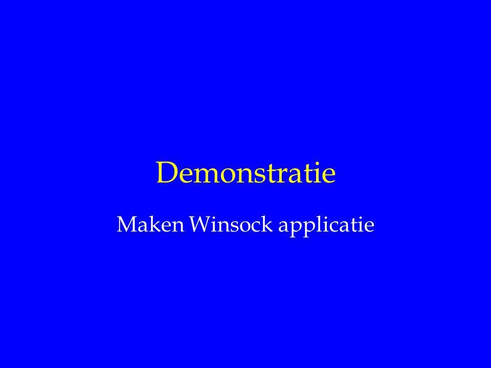 Internet Diensten Maken Winsock applicatie