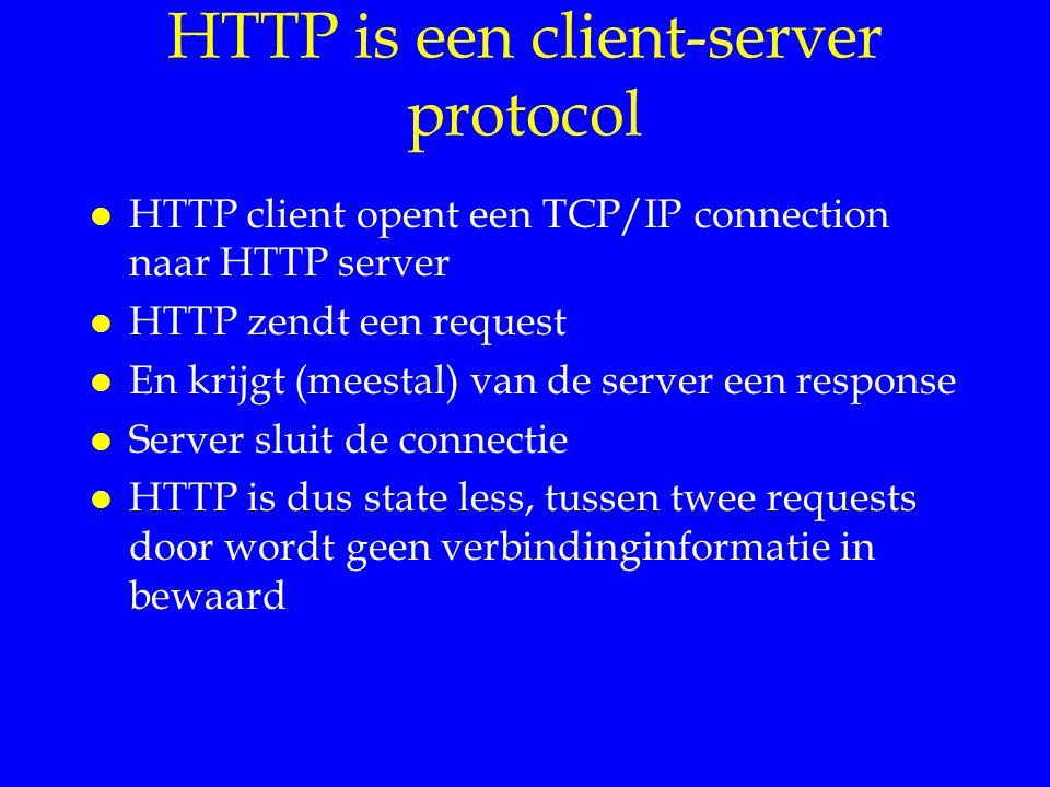 HTTP is een client-server protocol