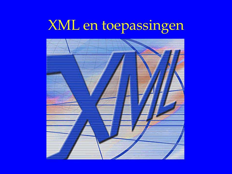 XML en toepassingen X E-company 1.. n Billing Customer Care
