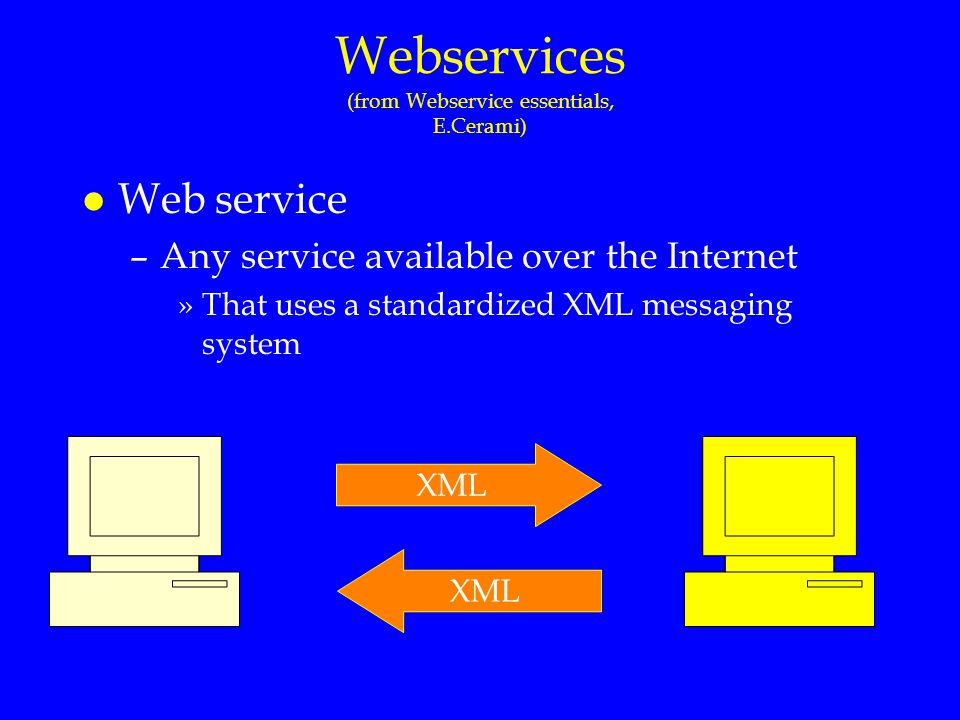 Webservices (from Webservice essentials, E.Cerami)