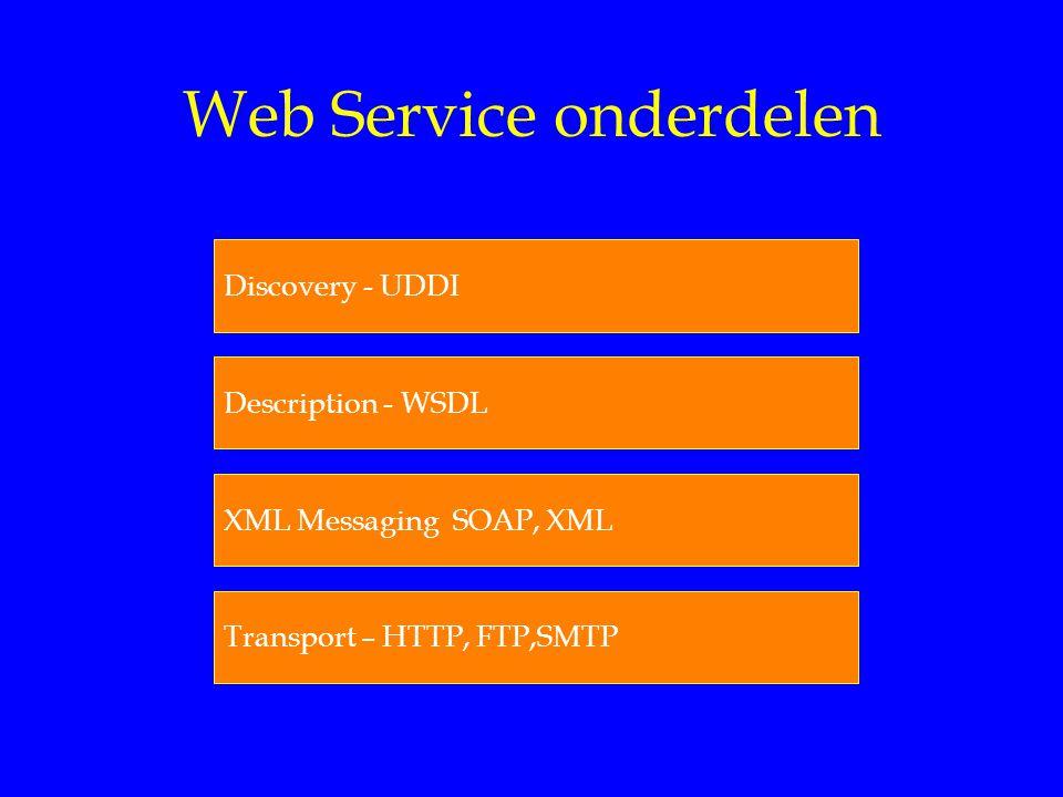 Web Service onderdelen