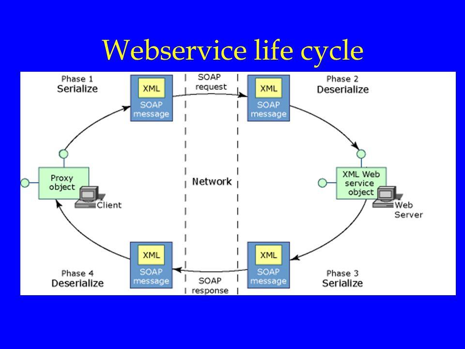 Internet Diensten Webservice life cycle.