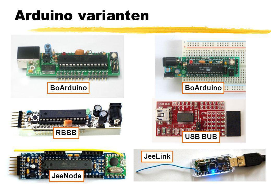 Arduino varianten BoArduino BoArduino RBBB USB BUB JeeLink JeeNode