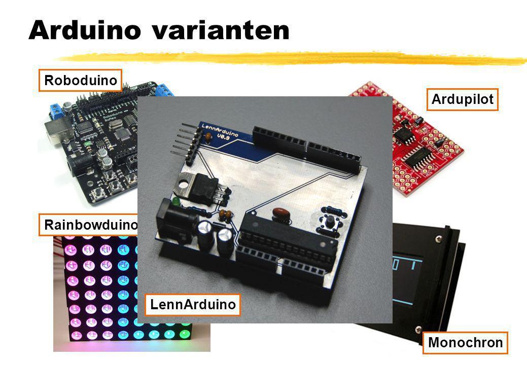 Arduino varianten Roboduino Ardupilot Rainbowduino LennArduino