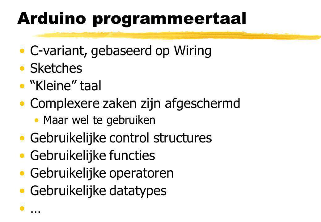 Arduino programmeertaal