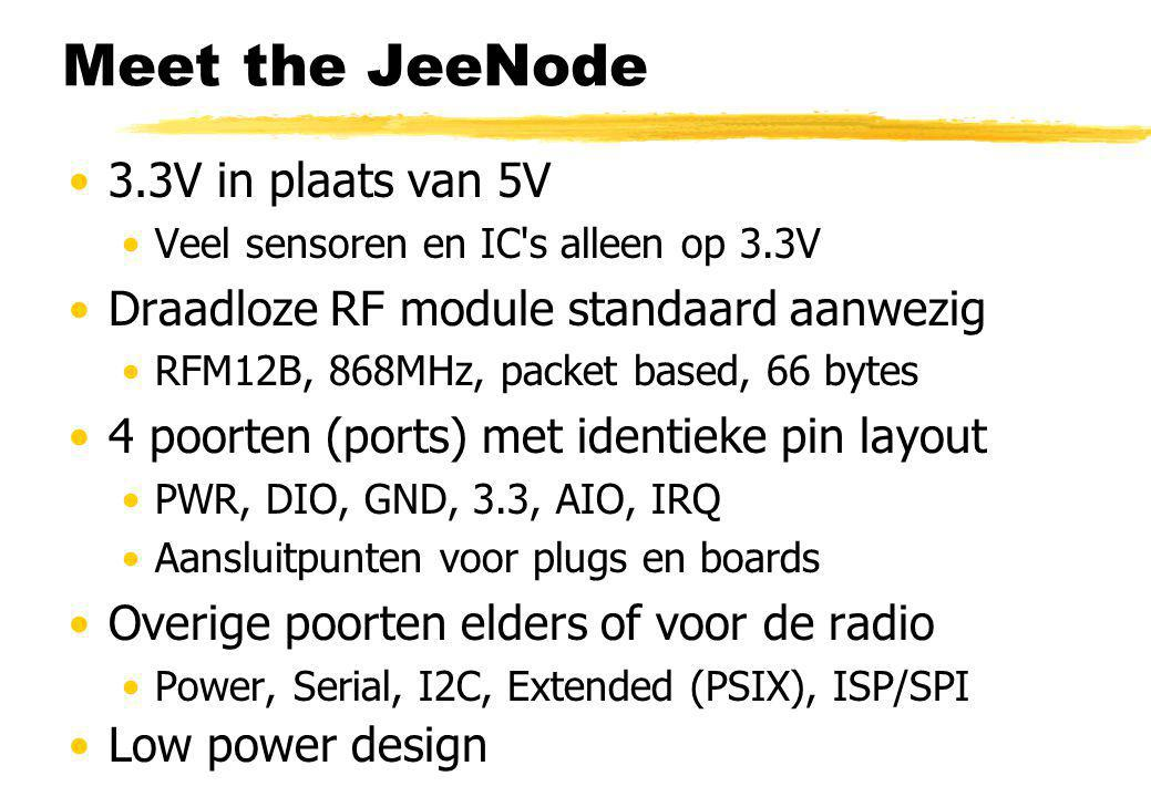Meet the JeeNode 3.3V in plaats van 5V
