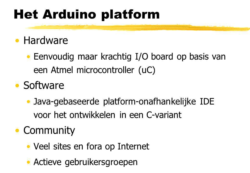 Het Arduino platform Hardware Software Community