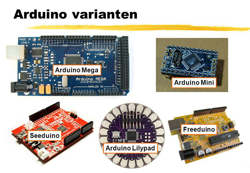 Arduino varianten Arduino Mega Arduino Mini Freeduino Seeduino