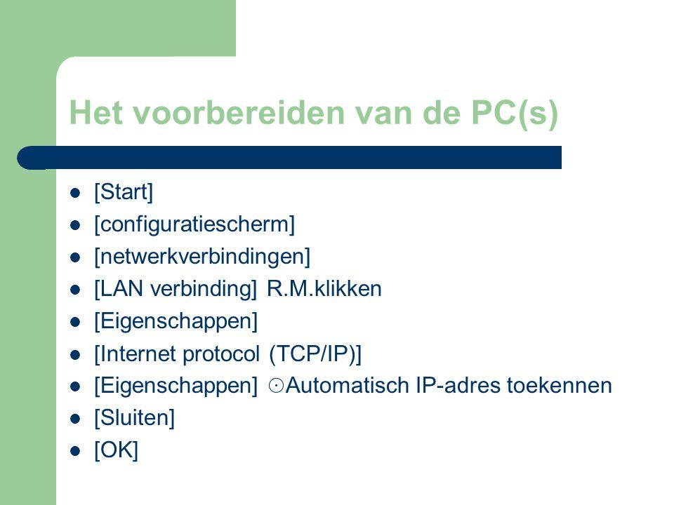 Het voorbereiden van de PC(s)
