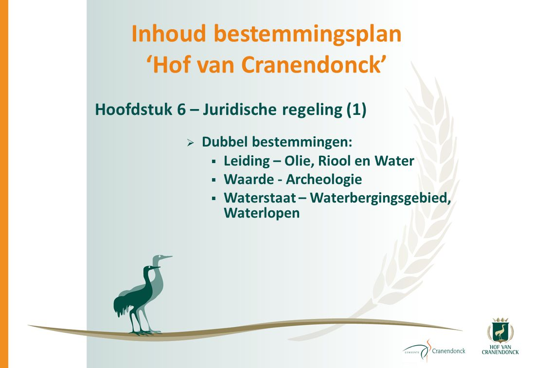Inhoud bestemmingsplan 'Hof van Cranendonck'