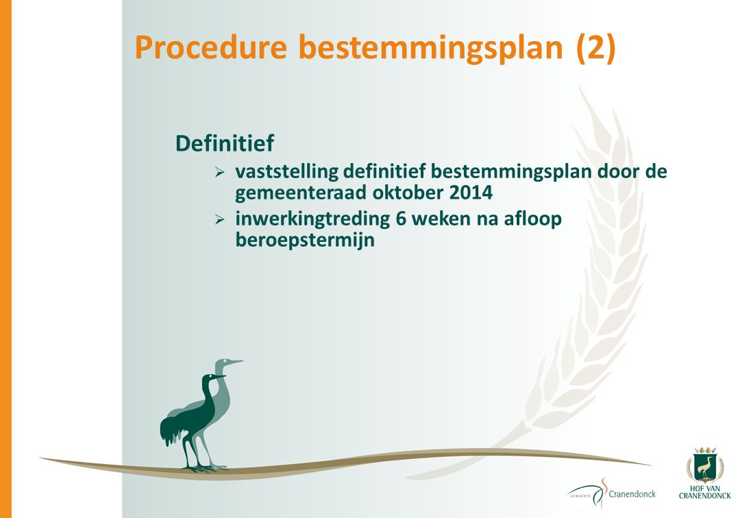 Procedure bestemmingsplan (2)