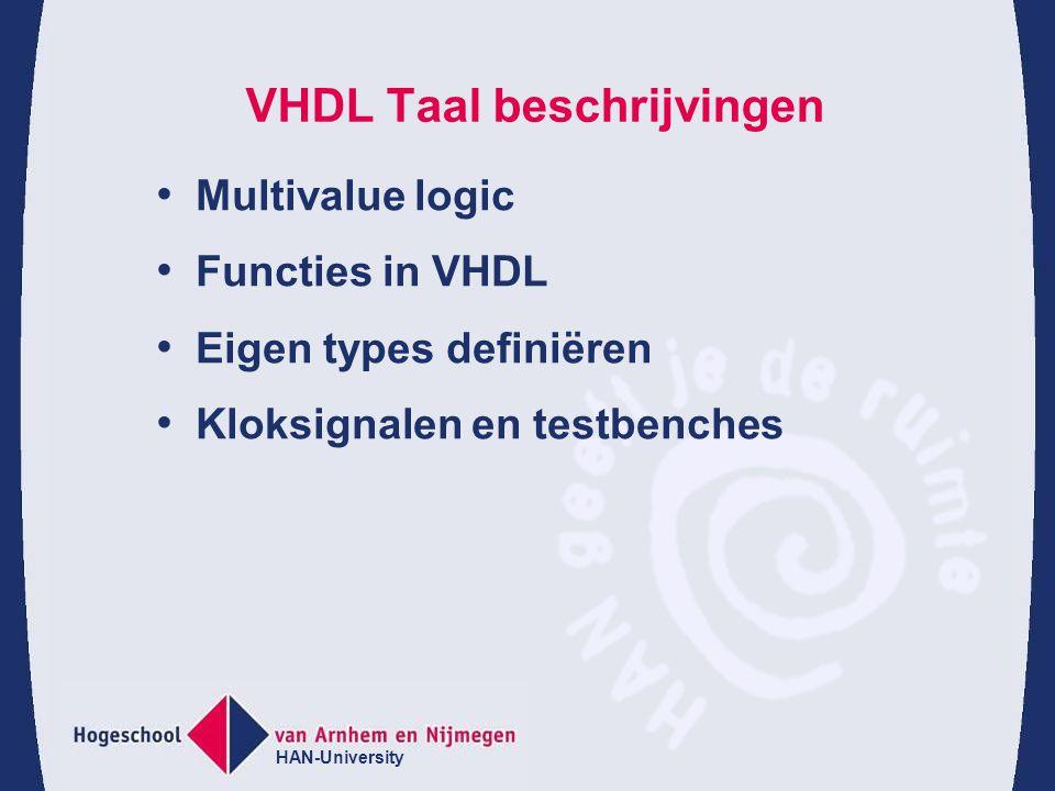 VHDL Taal beschrijvingen