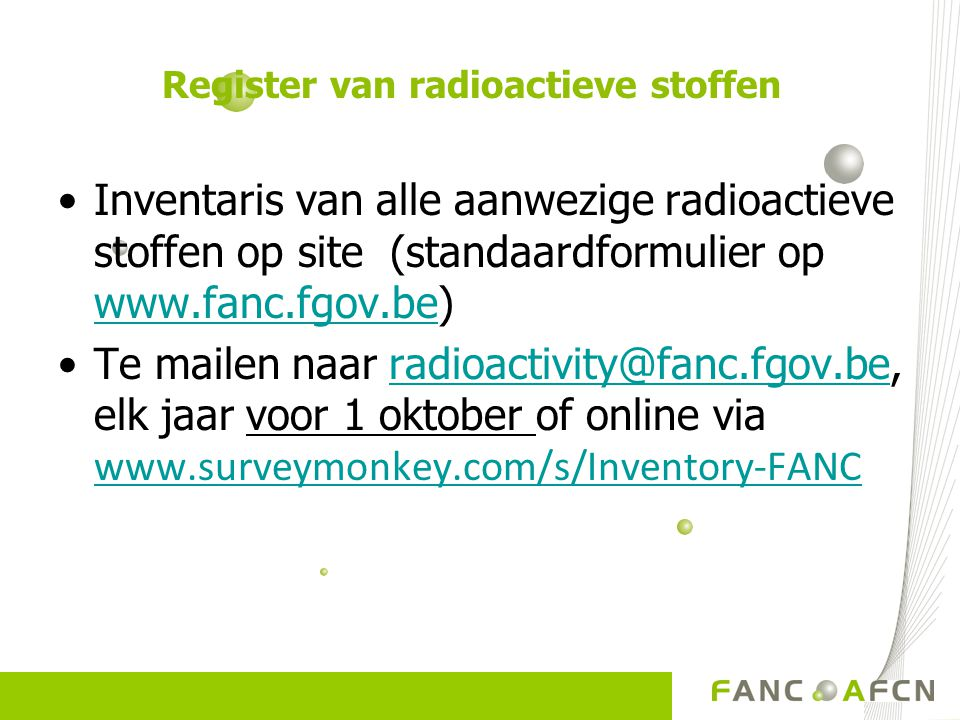 Register van radioactieve stoffen