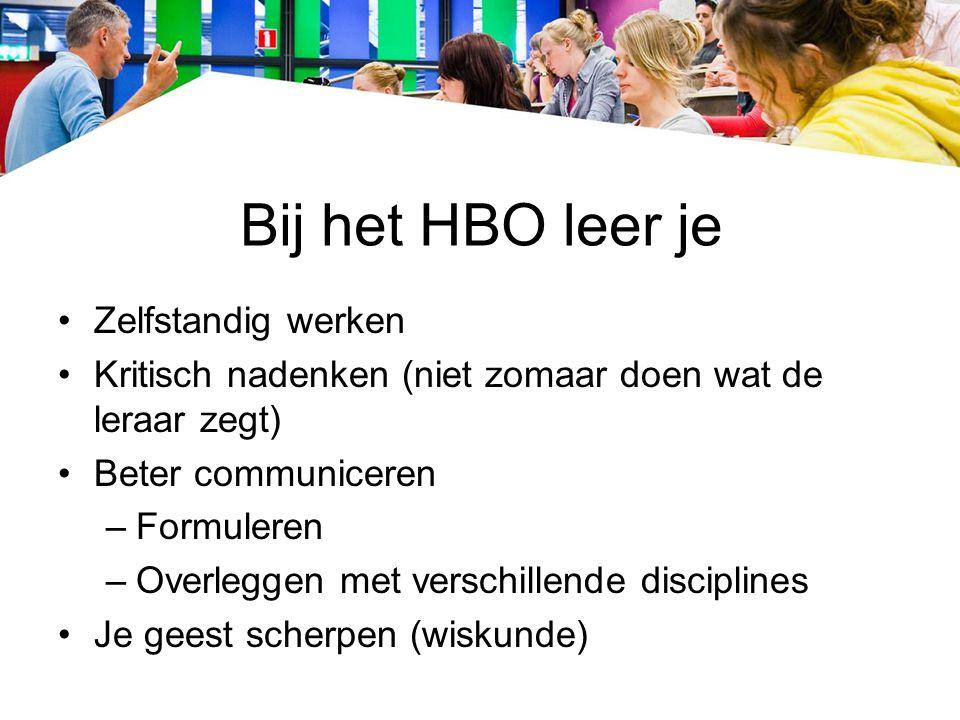 Bij het HBO leer je Zelfstandig werken
