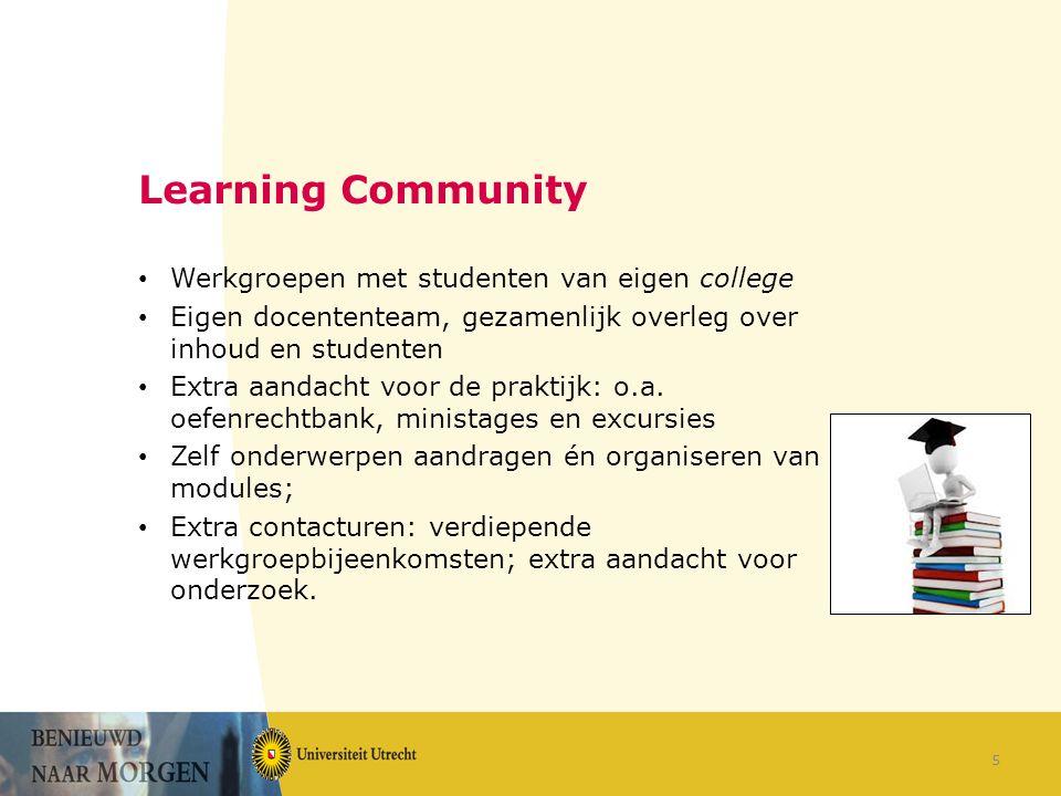 Learning Community Werkgroepen met studenten van eigen college