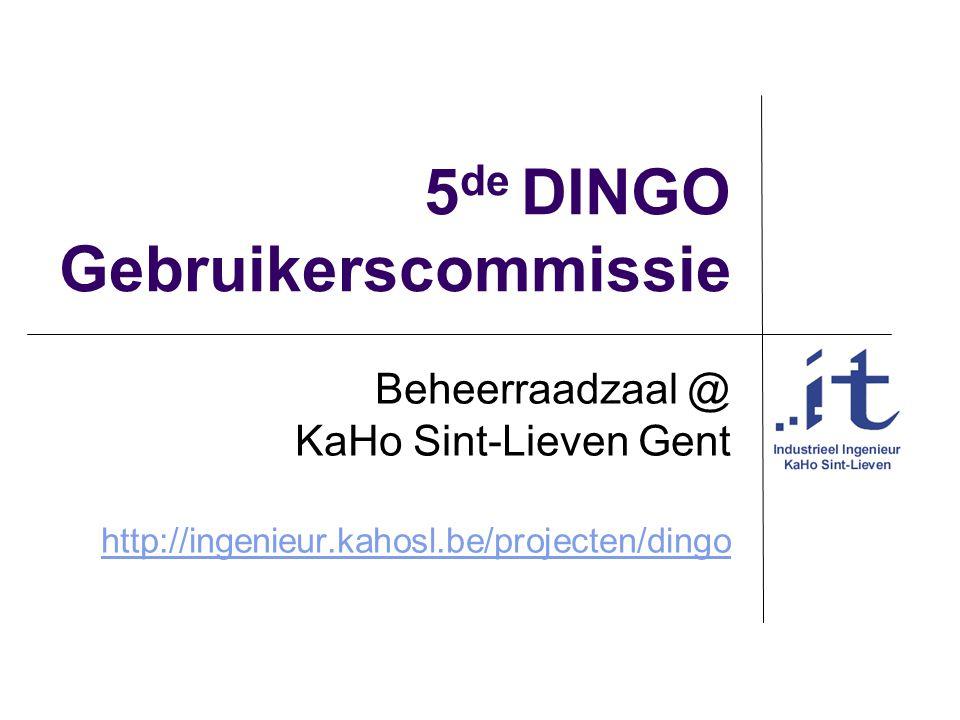 5de DINGO Gebruikerscommissie