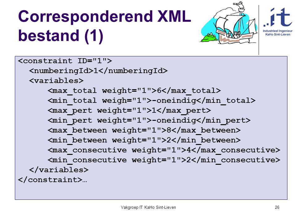Corresponderend XML bestand (1)