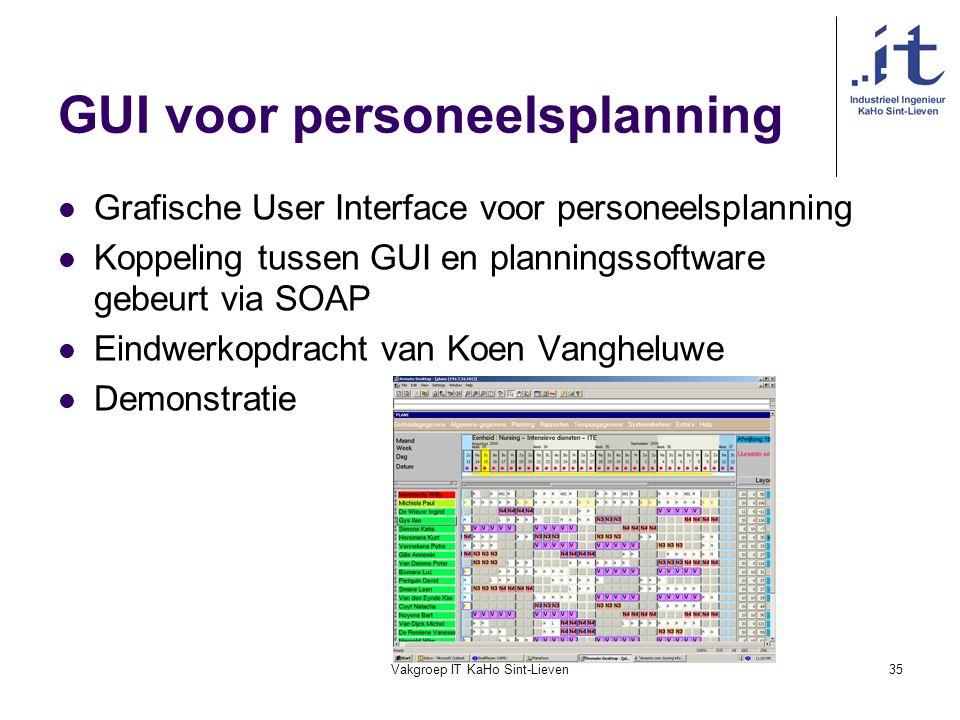 GUI voor personeelsplanning