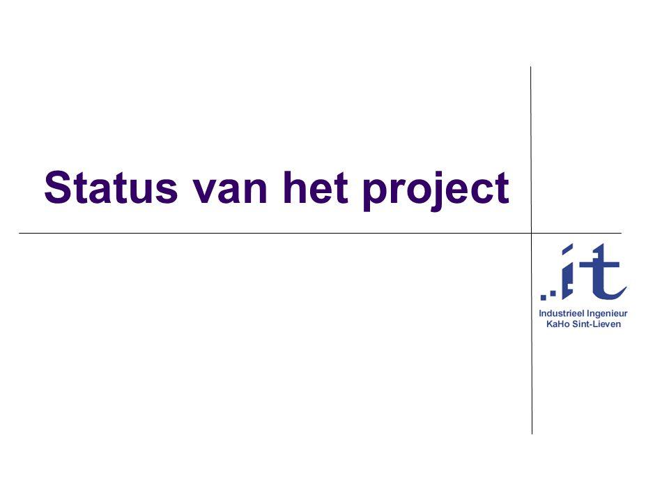 Status van het project