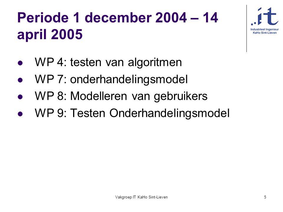 Periode 1 december 2004 – 14 april 2005