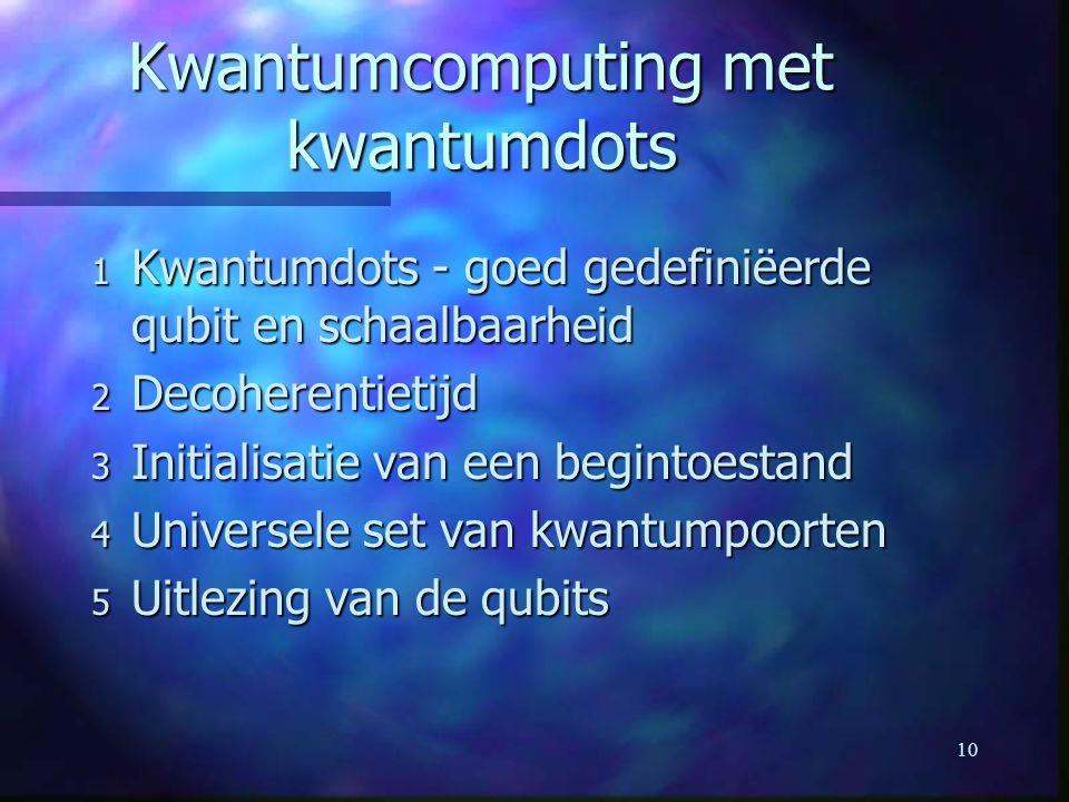 Kwantumcomputing met kwantumdots