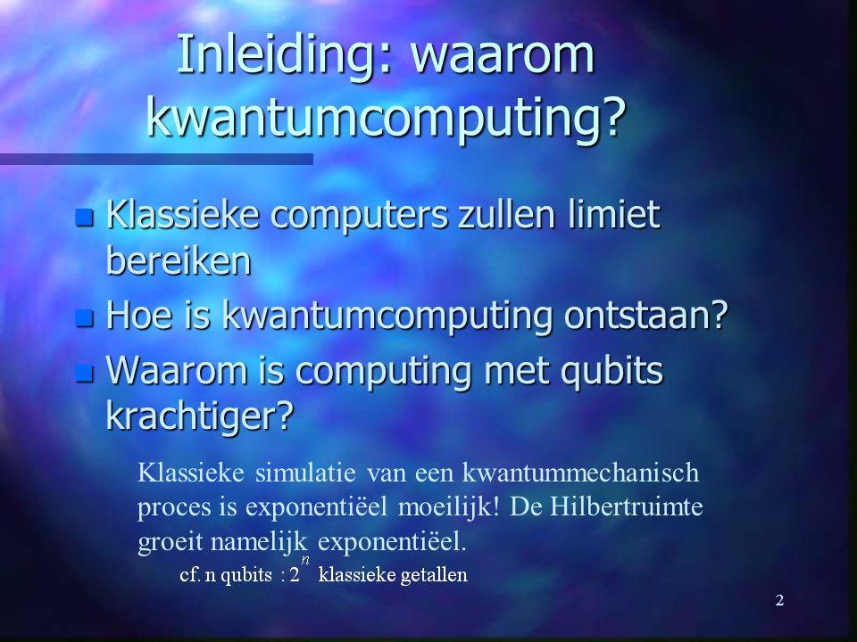 Inleiding: waarom kwantumcomputing
