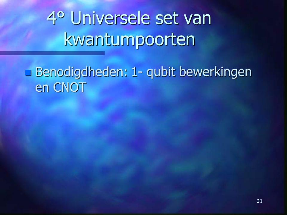 4° Universele set van kwantumpoorten