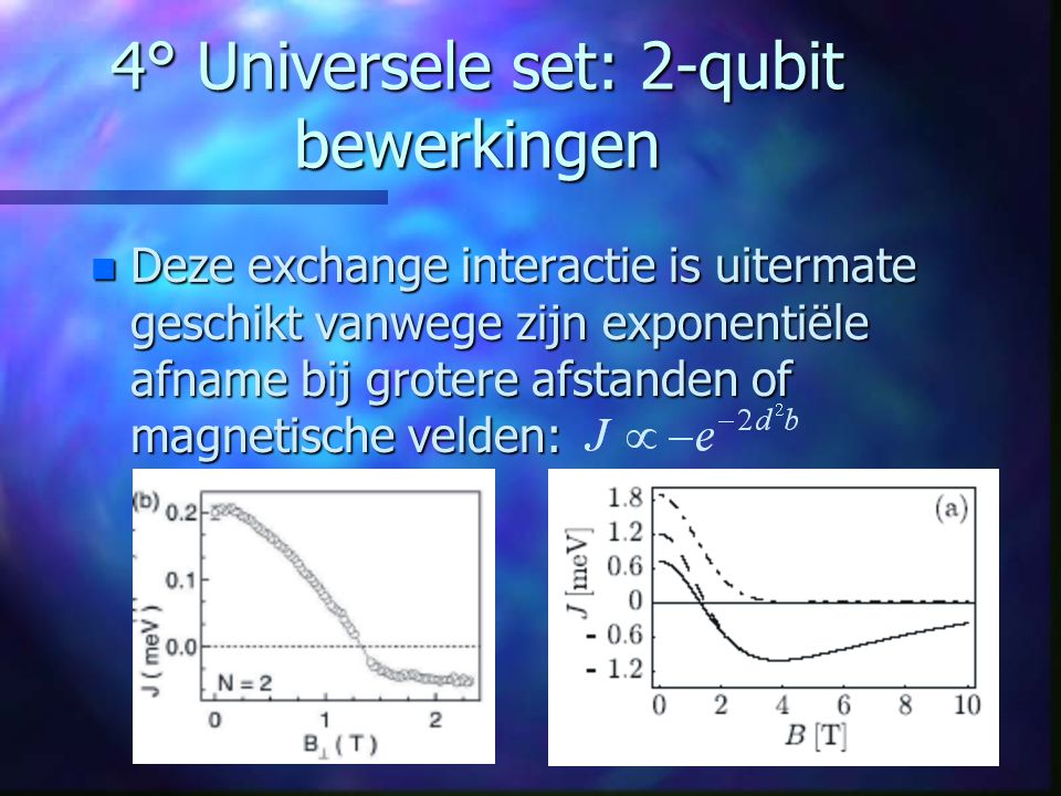 4° Universele set: 2-qubit bewerkingen