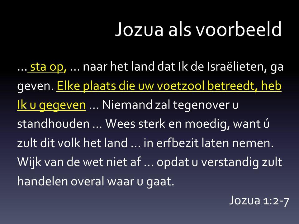 Jozua als voorbeeld