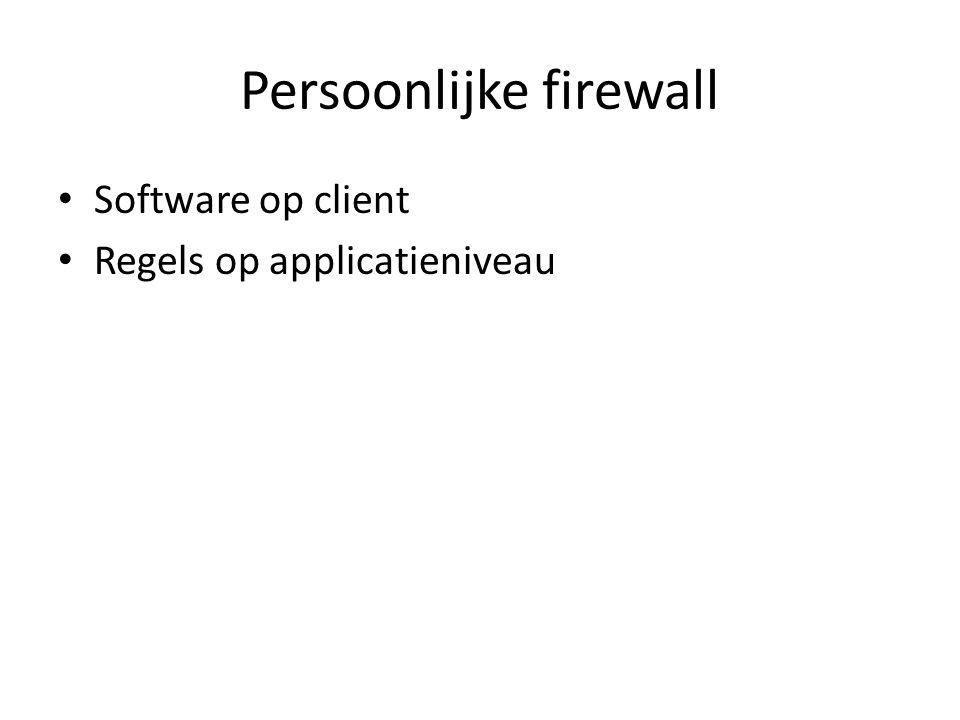 Persoonlijke firewall