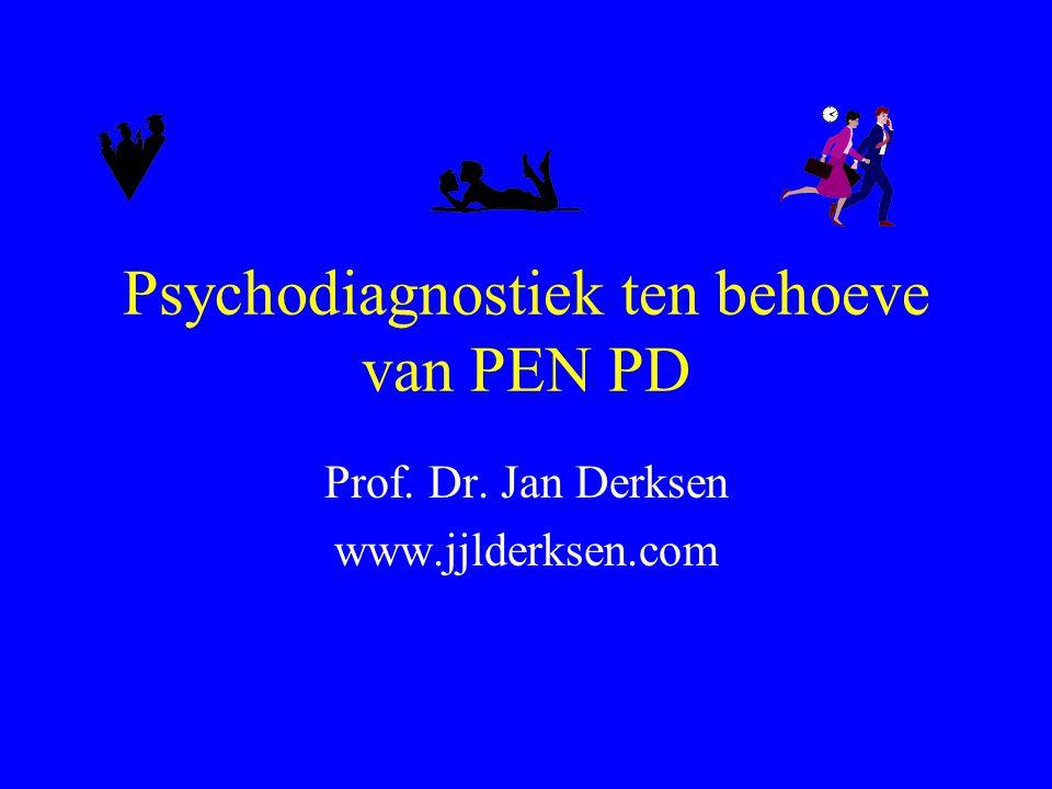 Psychodiagnostiek ten behoeve van PEN PD
