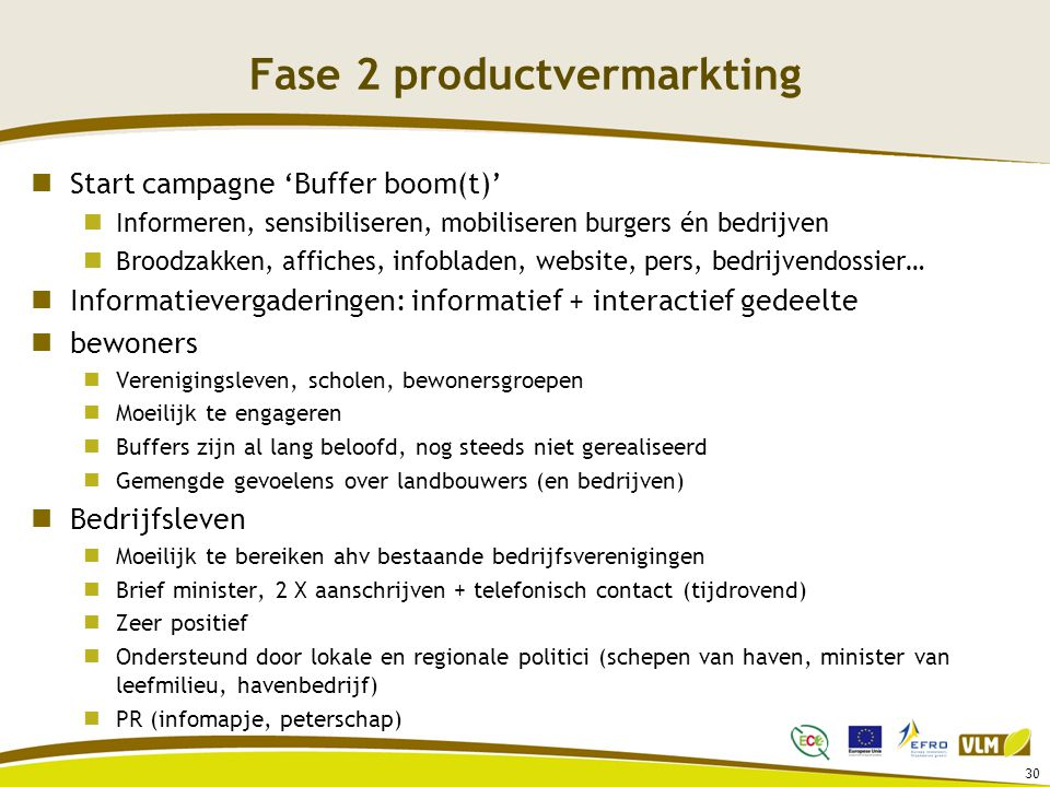 Fase 2 productvermarkting