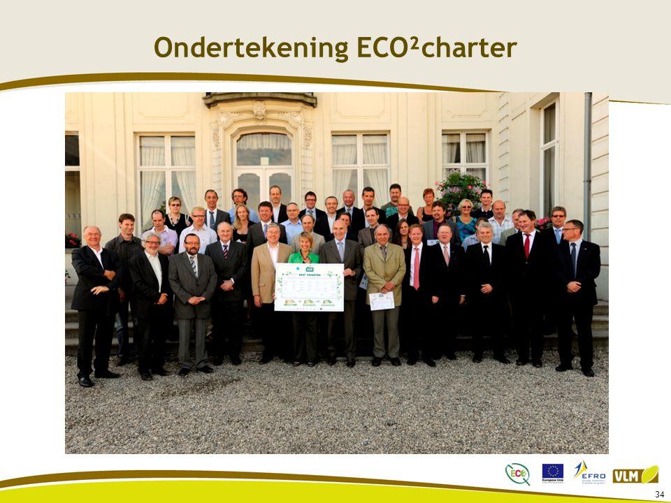 Ondertekening ECO²charter