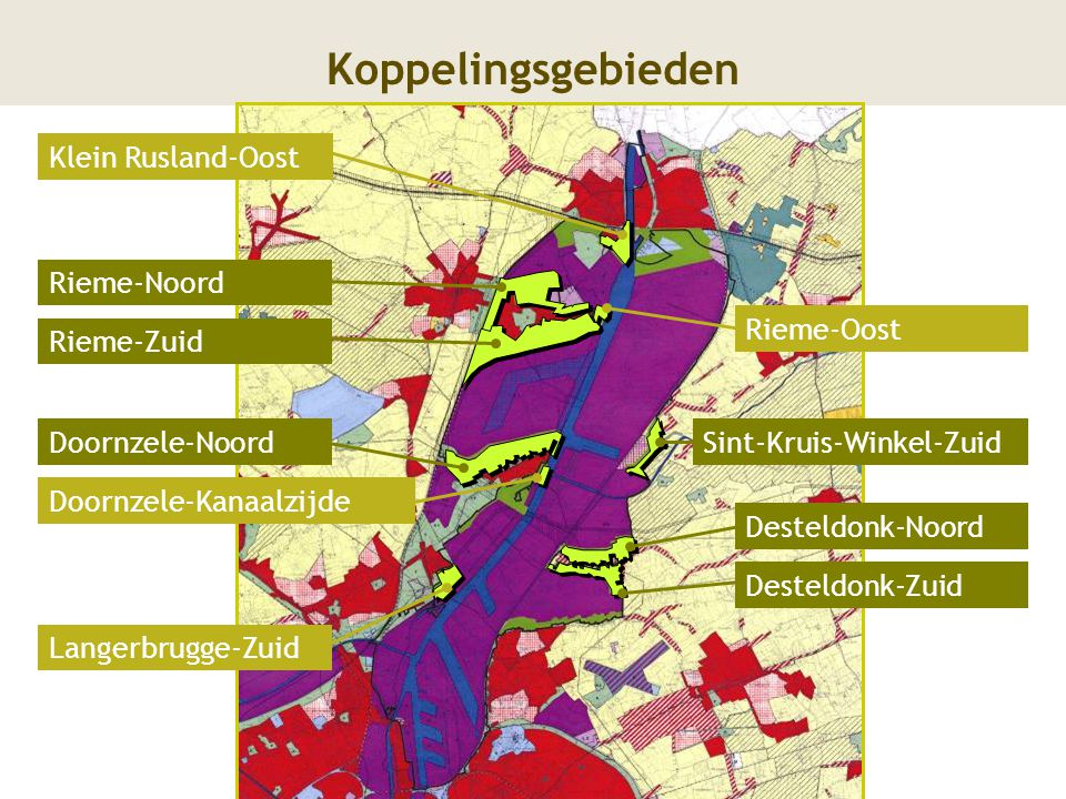 Koppelingsgebieden Rieme-Oost Langerbrugge-Zuid Doornzele-Kanaalzijde