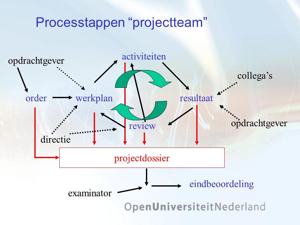 Processtappen projectteam