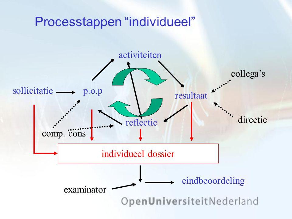 Processtappen individueel
