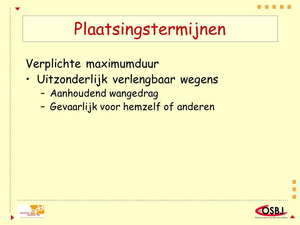 Plaatsingstermijnen Verplichte maximumduur